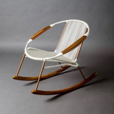 Solido Rocking Chair - White