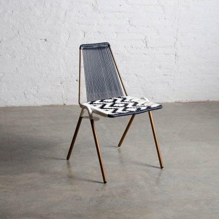 De la Finca Lite Black & White Chair
