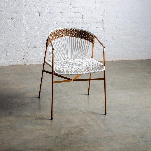 La Maye White & Golden Rose Chair