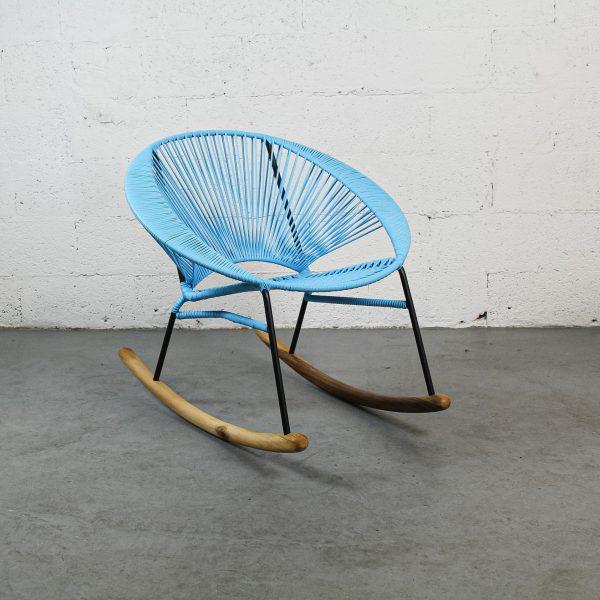 Tres Aquamarine Rocking Chair
